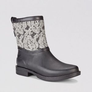 UGG Lace Ankle Rain Boots 6 Nordstrom
